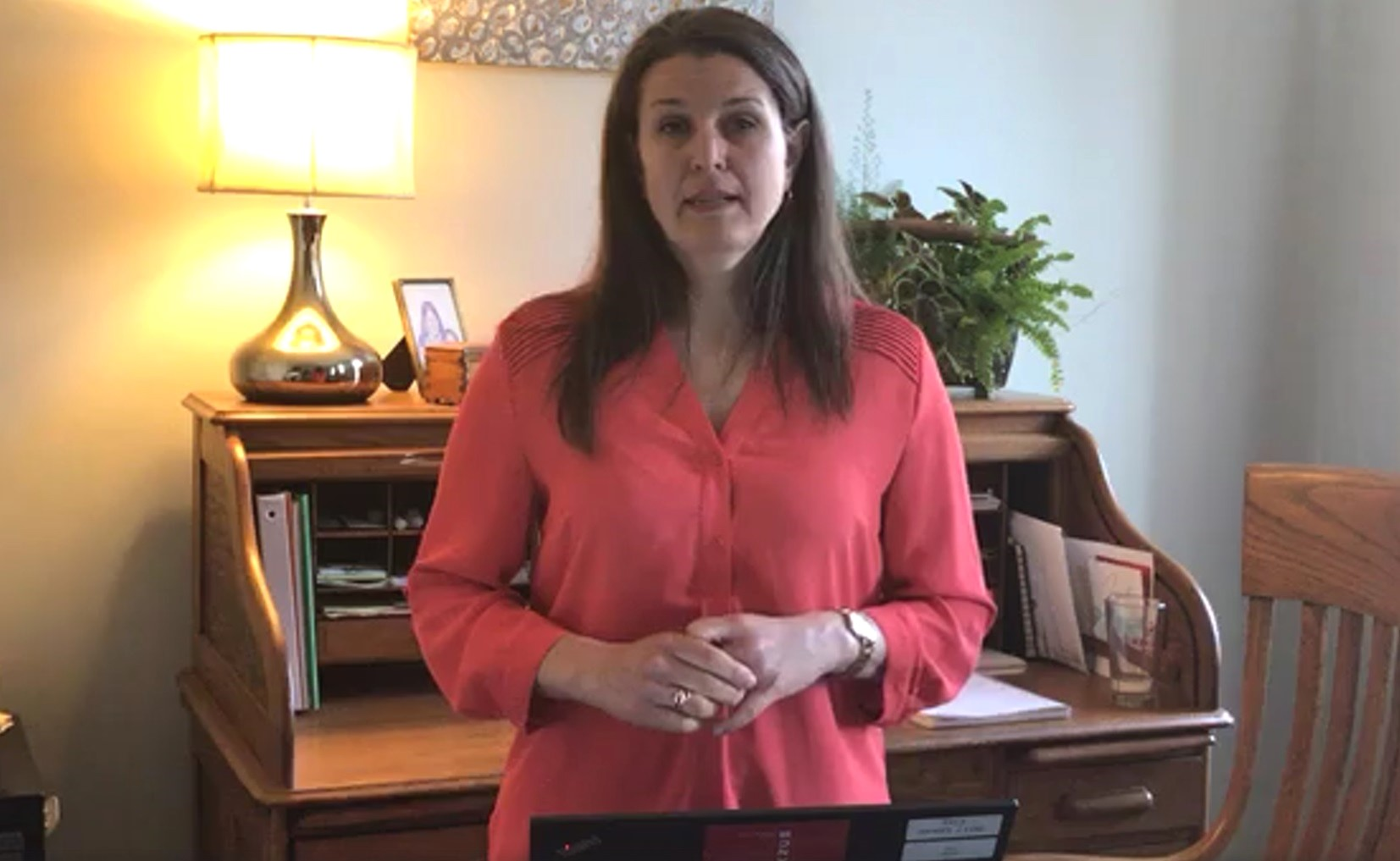 "Lancaster Mayor Danene Sorace discusses the city's coronavirus response during a ""Live at Five"" Facebook chat on Monday, April 20, 2020."