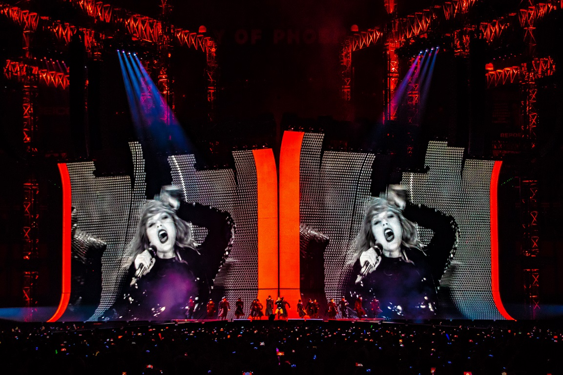 "This stage set for Taylor Swift's ""Big Reputation"" tour was created by Lititz-based Tait."