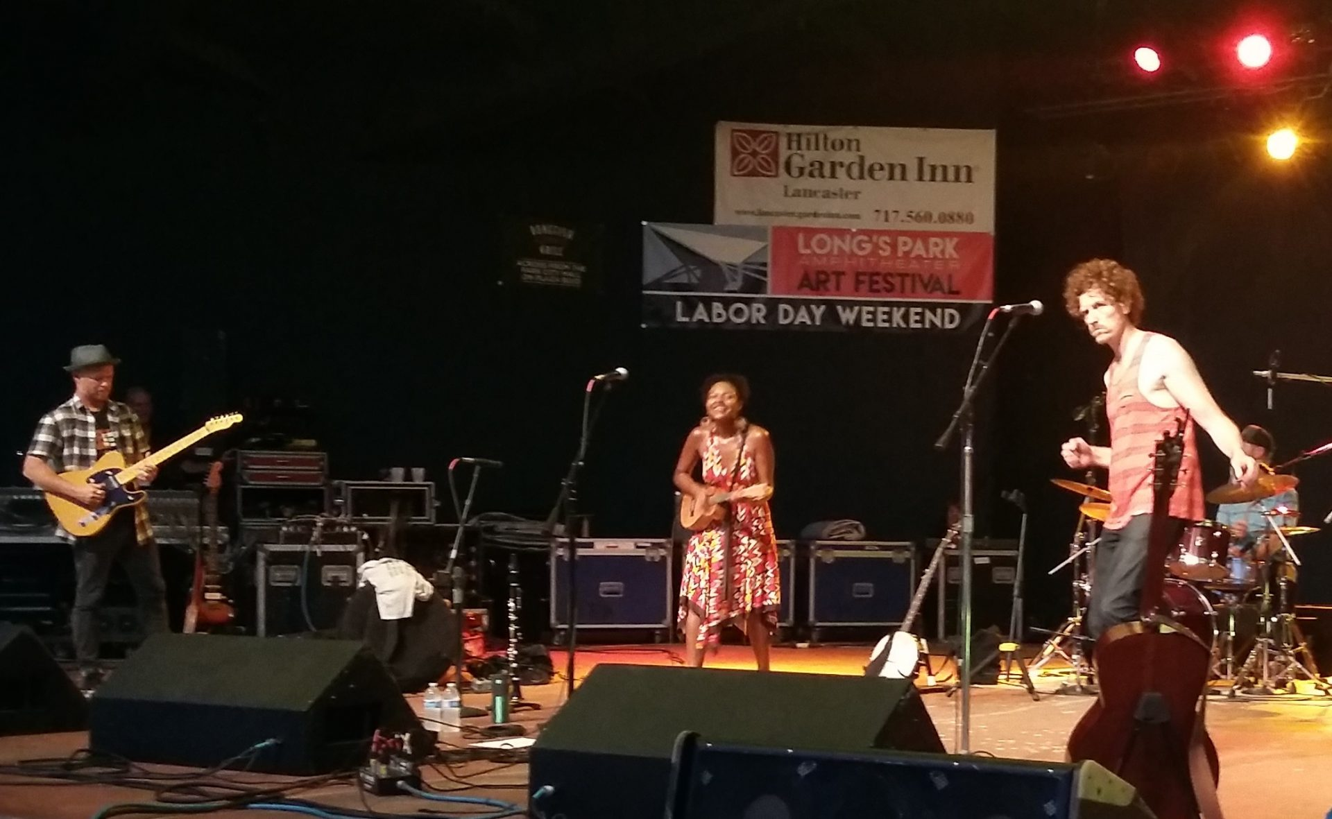 The band Birds of Chicago performs at the Long's Park Amhitheater on Sunday, July 15, 2018.