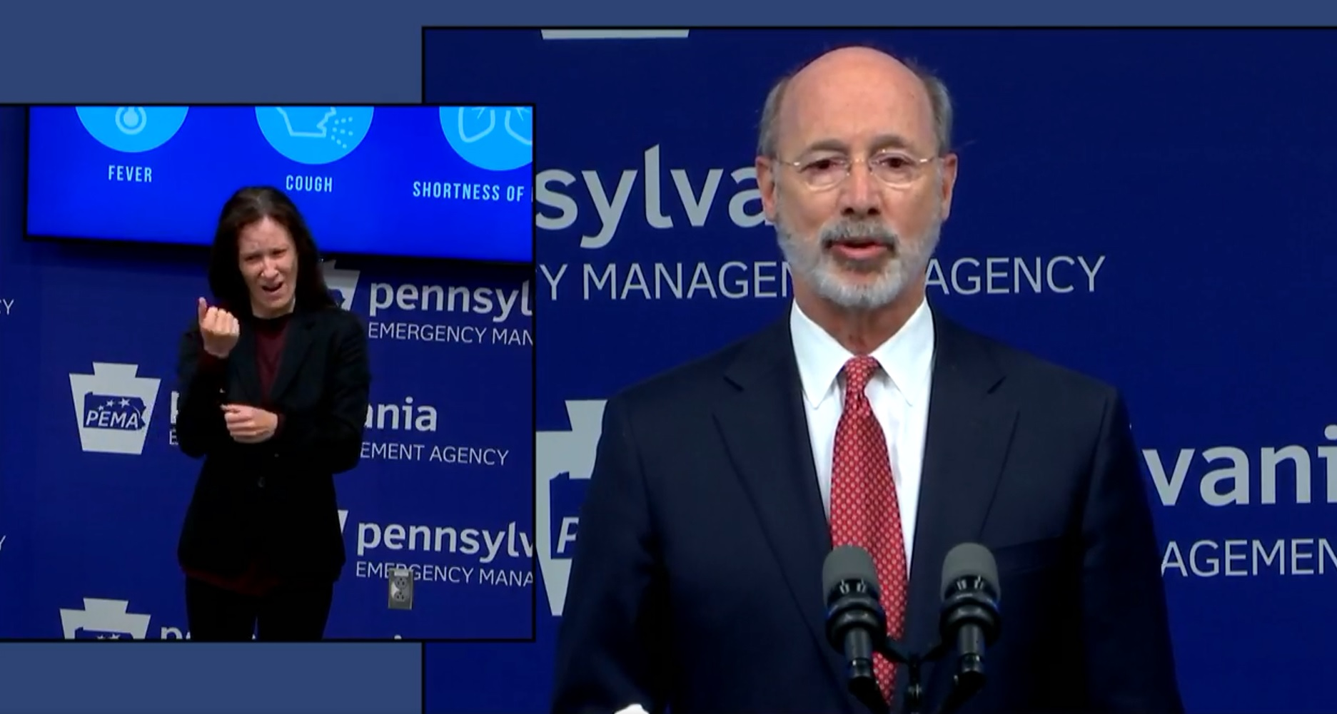 Gov. Tom Wolf discusses Pennsylvania's reopening strategy on Monday, May 11, 2020.