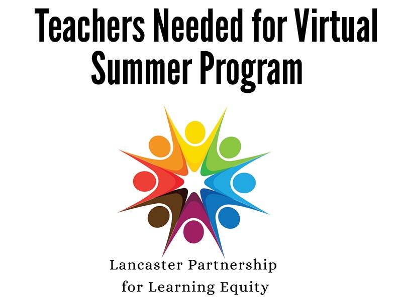 Teachers Needed for Virtual Summer Program