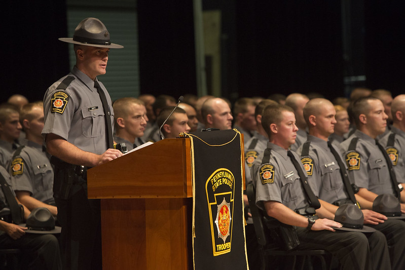 The 142nd cadet class of Pennsylvania State Police graduate in this 2015 file photo. (Source: PA Office of the Governor)