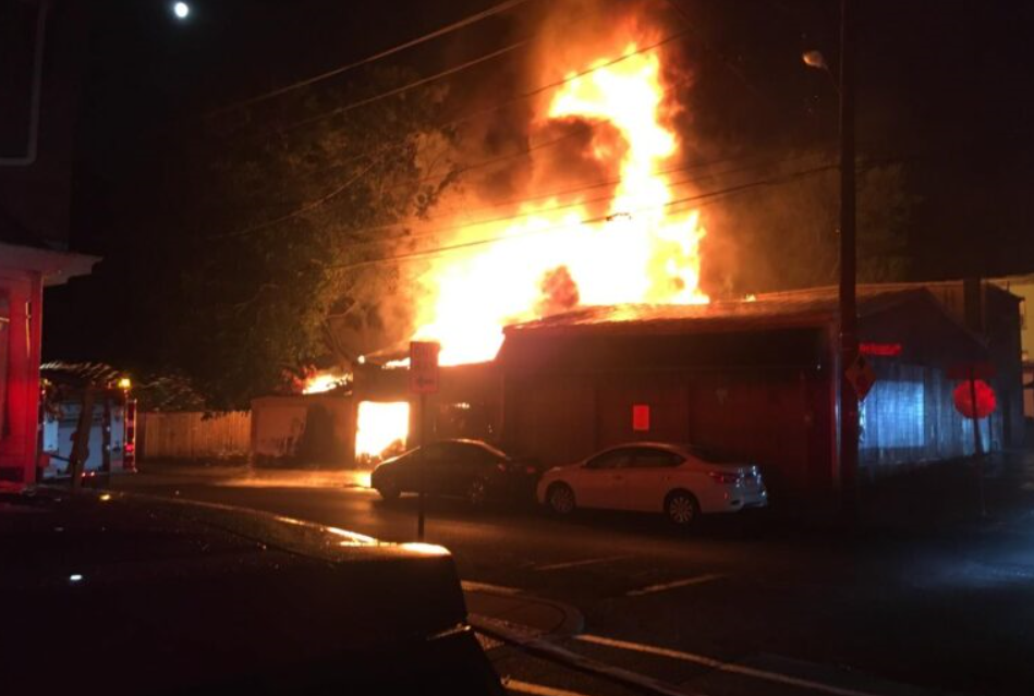 Officials say fireworks started this fire at 250 New Dorwart St., Lancaster, on Saturday, July 4, 2020. (Source: City of Lancaster)