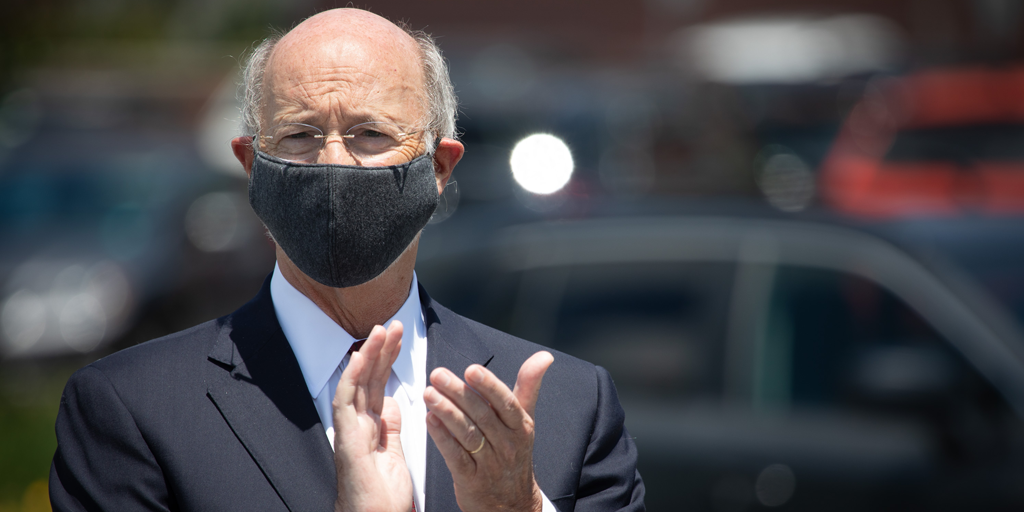 Gov. Tom Wolf wears a mask in this undated photo. (Source: Office of the Governor)