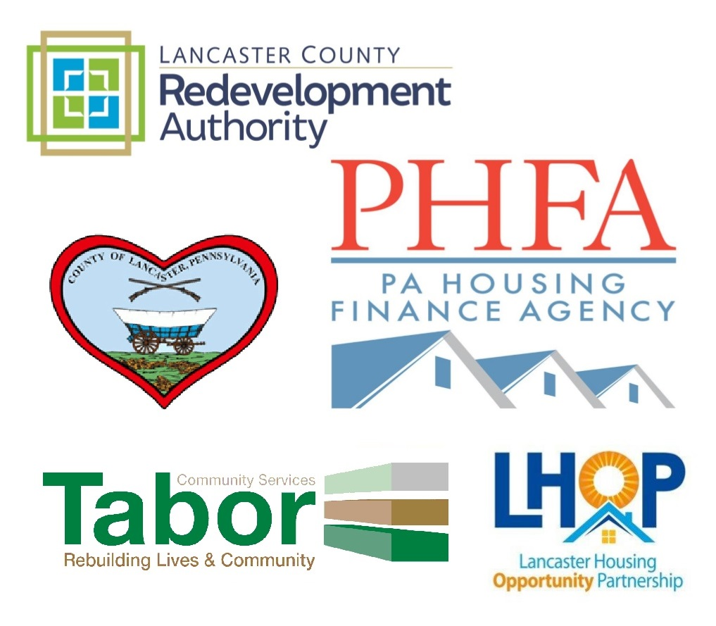 Logos of organizations involved in implementing Rental Relief in Lancaster County. (Source: Eviction Prevention Network)