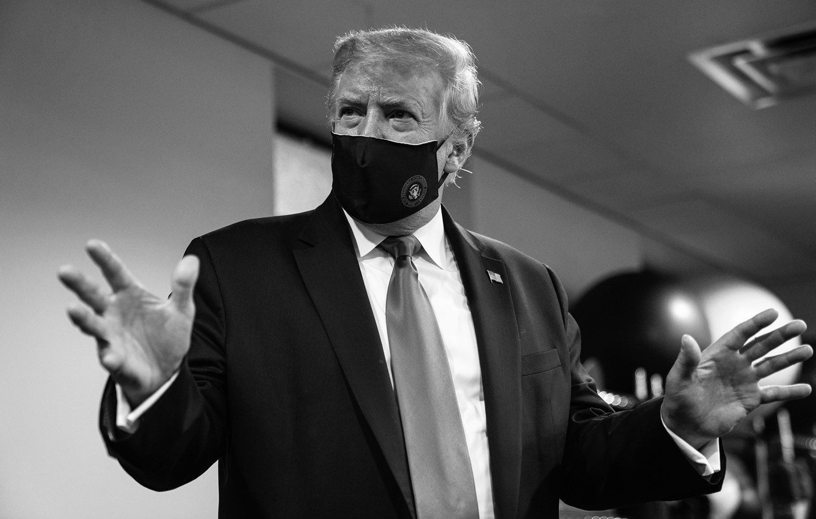 President Donald Trump tweeted this photo of himself in a mask on Monday, July 20, 2020.