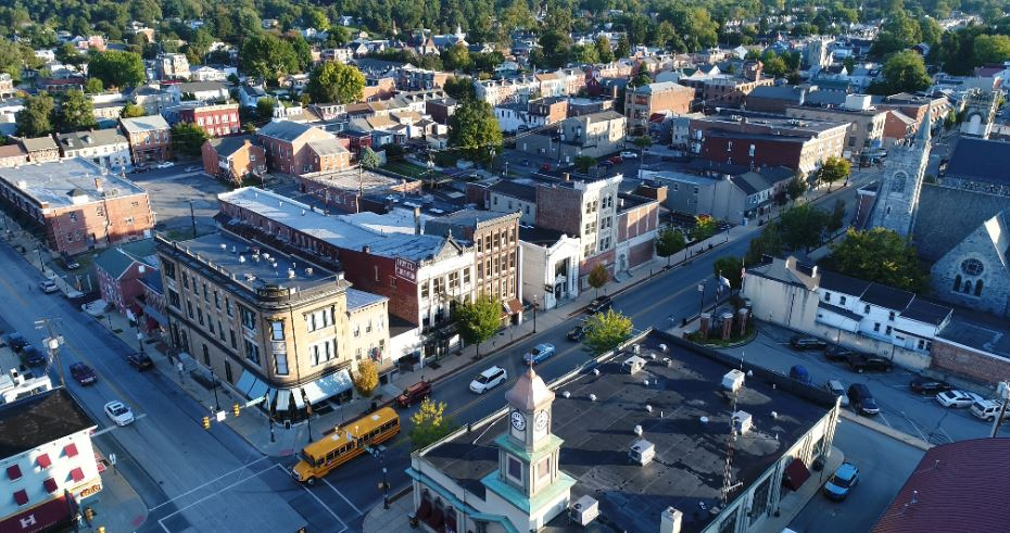 Columbia, seen here in an aerial photo, could be one of Lancaster County's harder-hit communities if Pennsylvania's eviction moratorium ends on schedule Aug. 31. (Photo: Kevin Flounlacker)