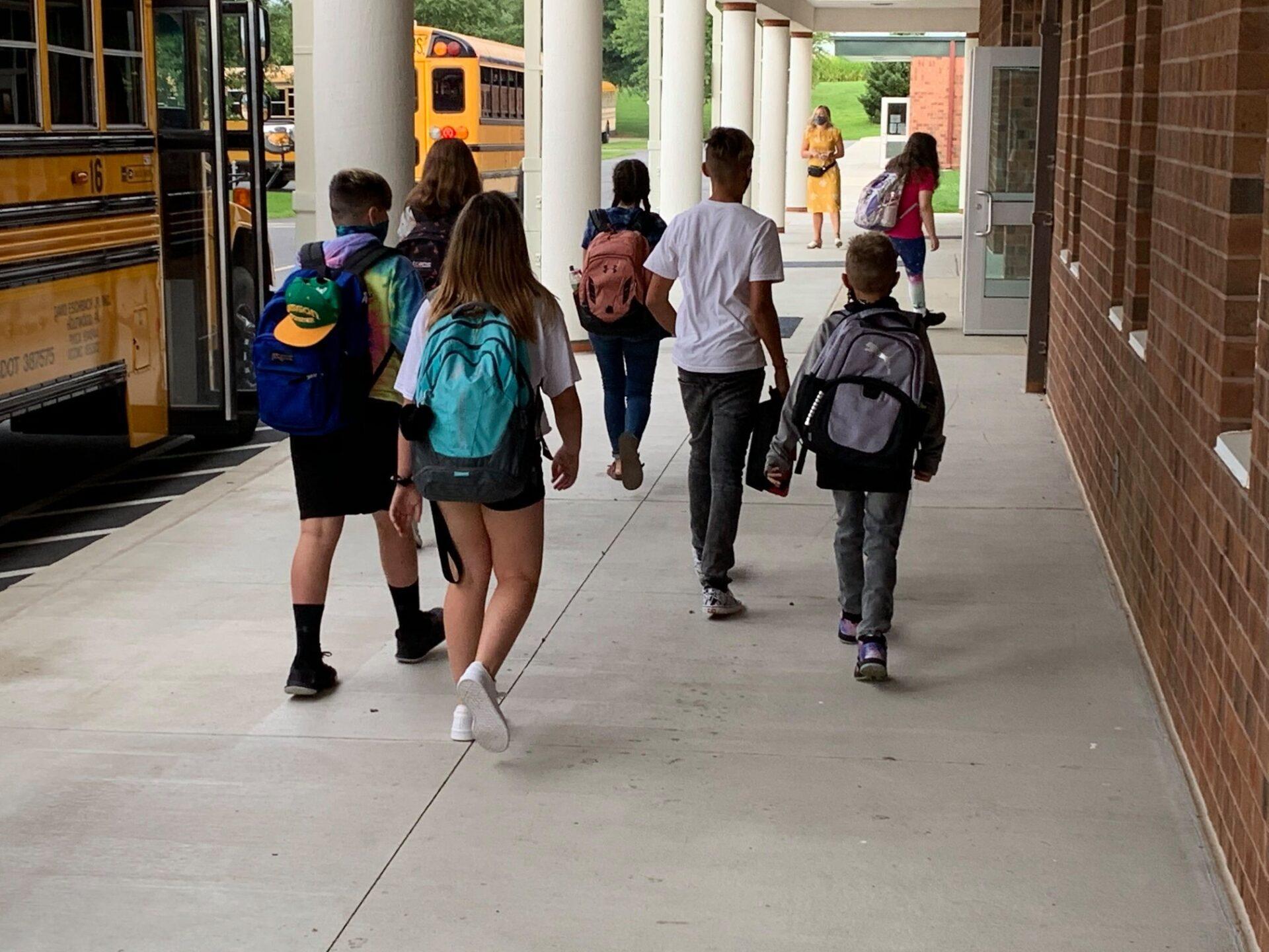 Solanco School District students head into school on Monday, Aug. 31, 2020. (Source: Solanco School District)