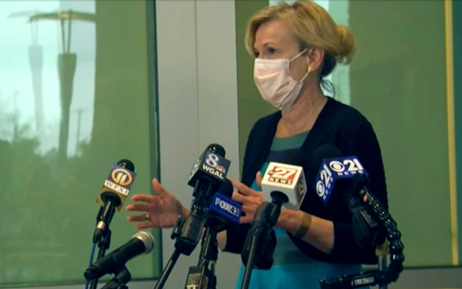 Dr. Deborah Birx speaks to the media in this image taken from online video on Thursday, Sept. 3, 2020.