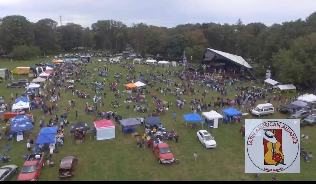 An aerial view of the 2018 Latin American Festival. (Courtesy of the Latin American Alliance)