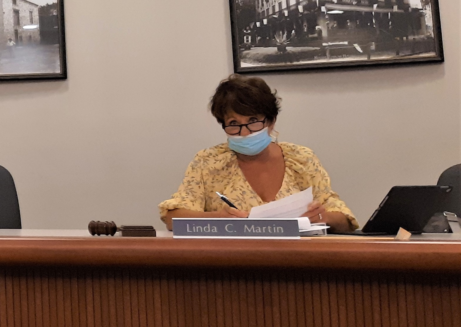 Chairwoman Linda Martin leads a meeting of Ephrata Borough Council's Municipal Enterprises Committee on Monday, Sept. 21, 2020. (Photo: Tim Stuhldreher)