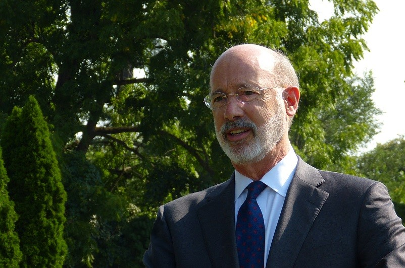 Gov. Tom Wolf speaks to the media in Lancaster Township on Tuesday, Sept. 8, 2020. (Photo: Tim Stuhldreher)