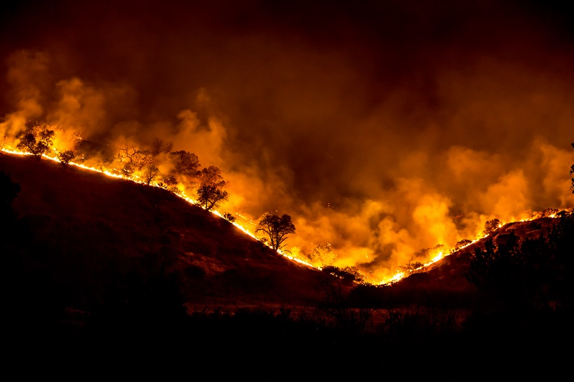 A file image of the 2018 Woolsey Fire in California. (Source:  Calif. Dept. of Fish & Wildlife)