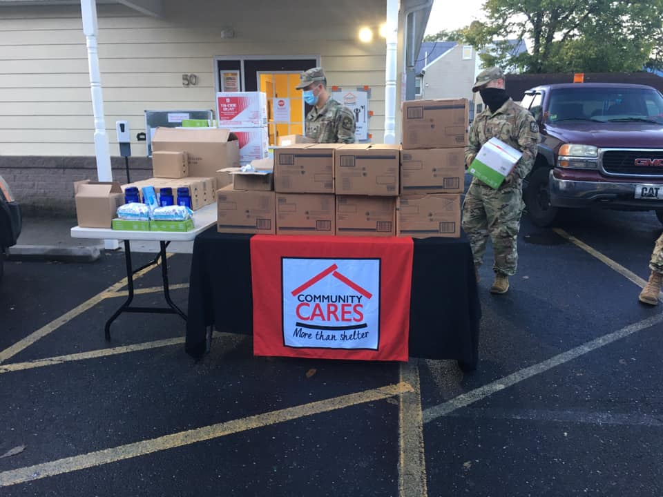 The Blue Mountian Battalion marched to Carlisle to deliver over $3,000 of PPE to Community CARES this morning. (Source: Community CARES)