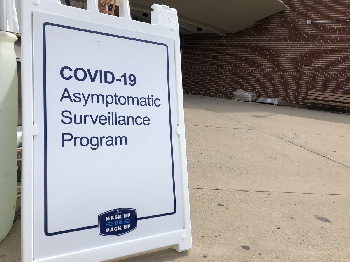 State College began free Covid-19 testing at Nittany Mall on Friday. (Source: Borough of State College)