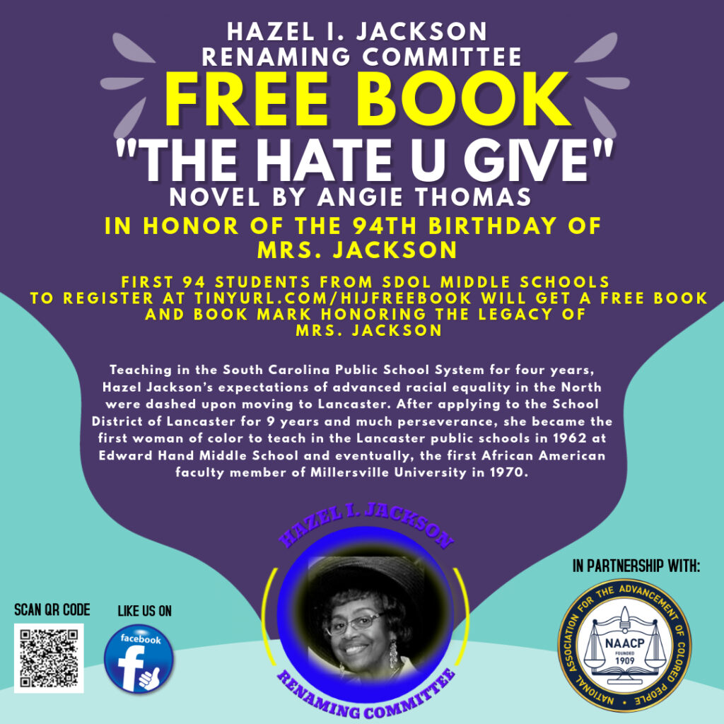 Hazel Jackson - The Hate U Give giveaway