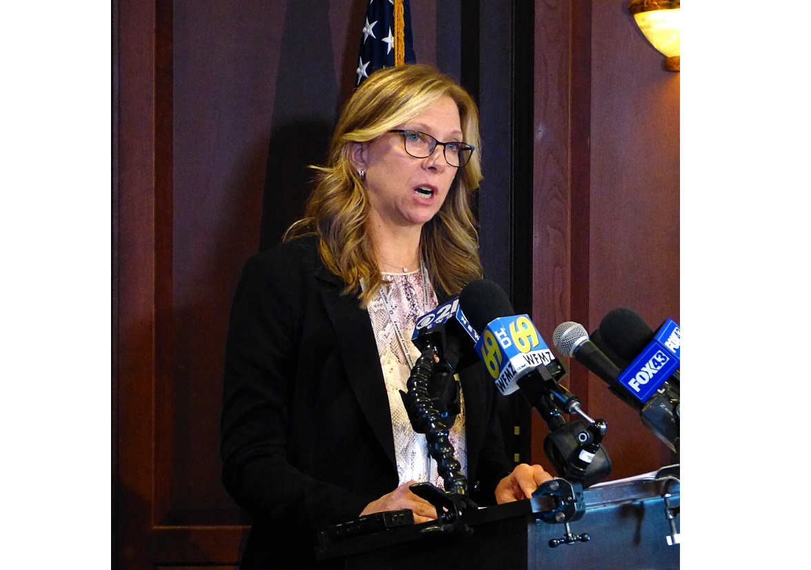 Lancaster County District Attorney Heather Adams speaks about the shooting death of Ricardo Munoz at the County Courthouse on Wednesday, Oct. 14, 2020. (Photo: Tim Stuhldreher)