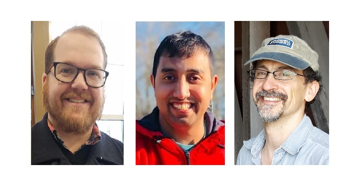 From left: Matt Johnson, Bhim Thapaliya, Tim Stuhldreher