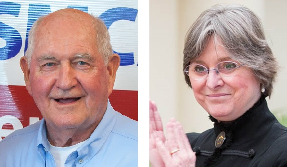 U.S. Agriculture Secretary Sonny Perdue, left, and Pa. First Lady Frances Wolf.