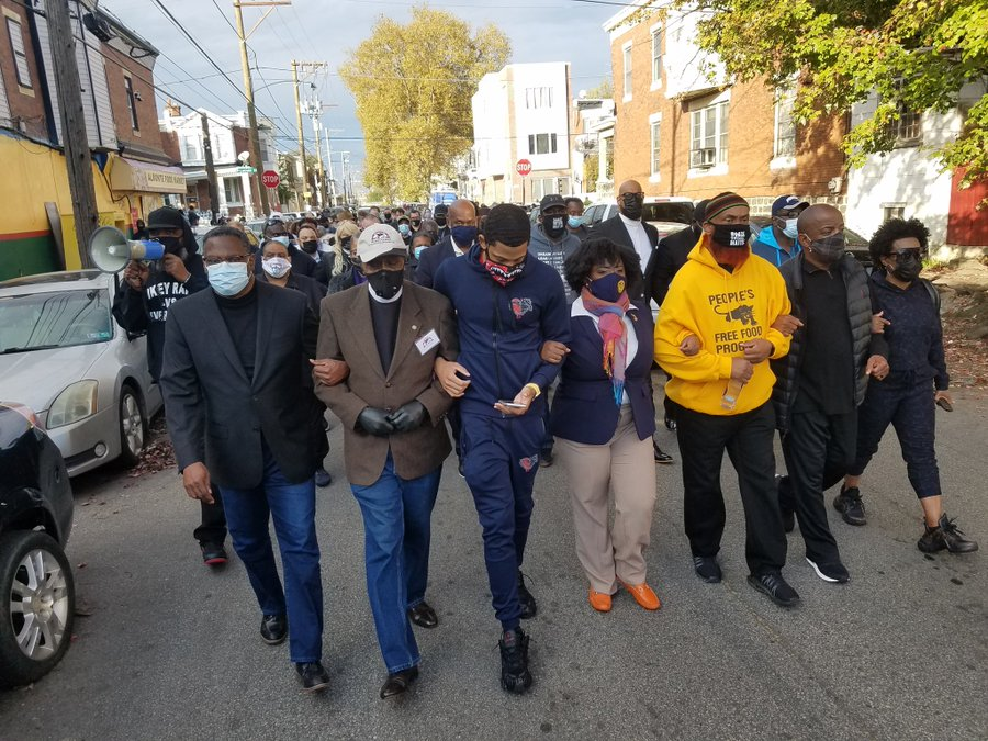 Clergy march on Tuesday in Philadelphia following the killing of Walter Wallace. (Source: Philly We Rise)