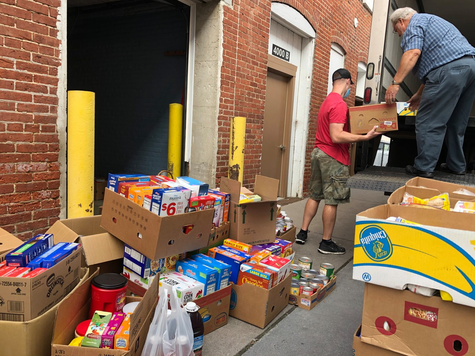 Donations outside Water Street Mission. (Source: Water Street Mission)