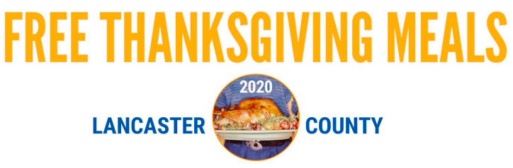 Locations providing free Thanksgiving meals in Lancaster County