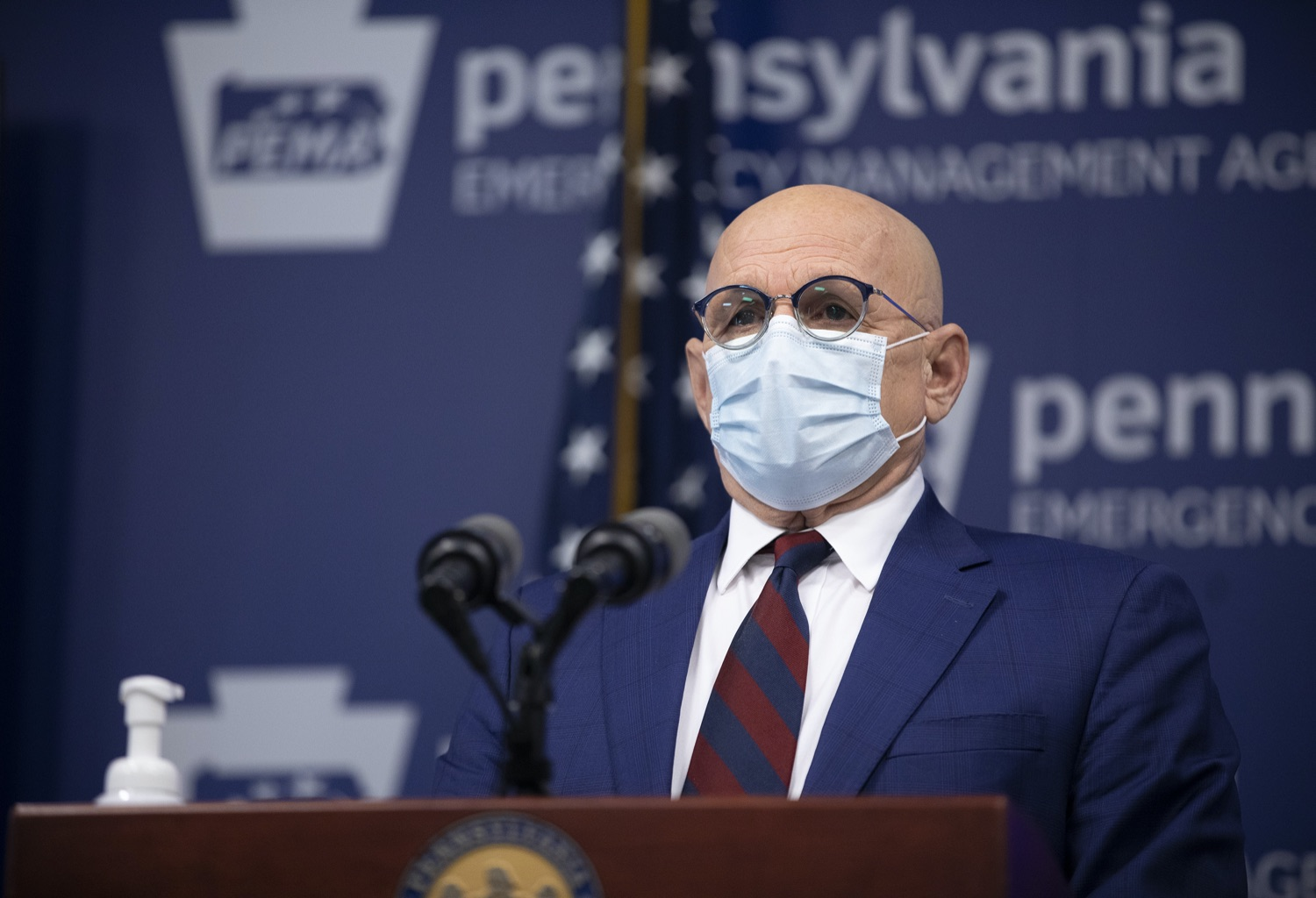 Michael Huff, Director of Testing and Contact Tracing at the Pennsylvania Department of Health, hosts a virtual media briefing to discuss Covid-19 in Pennsylvania on Tuesday, Nov. 24, 2020. (Source: Pa.gov)