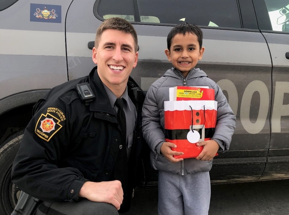 Nominate a child for state police troop's 'Shop With a Cop' program