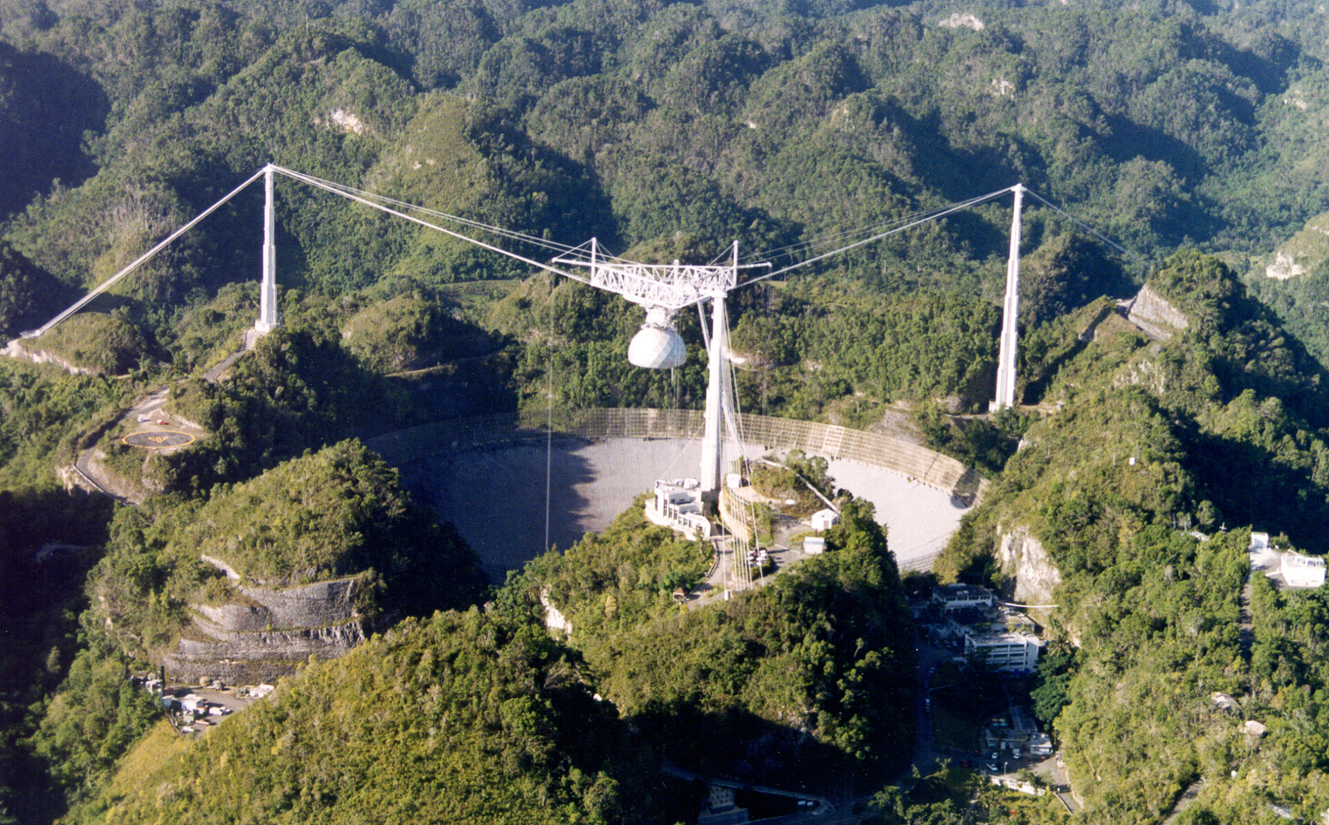 An aerial view of Arecibo Observatory in Puerto Rico, pre-hurricane. (Source: The Arecibo Observatory)