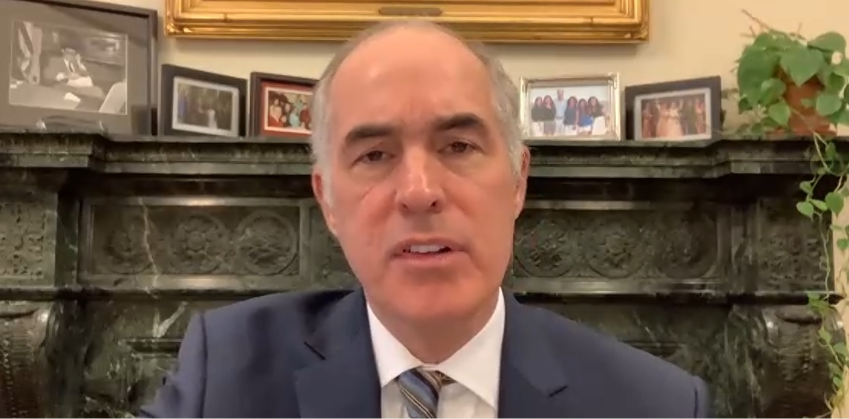 U.S. Sen. Bob Casey, D-Pa., speaks during a virtual press roundtable on Wednesday, Dec. 9, 2020.