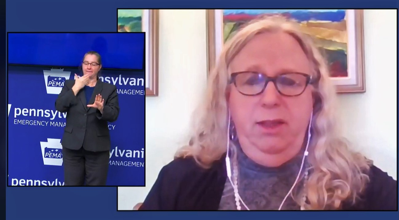 Pennsylvania Health Secretary Dr. Rachel Levine speaks during a virtual news briefing on Thursday, Dec. 17, 2020.