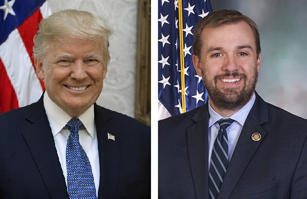 President Donald Trump, left, and Pa. House Speaker Bryan Cutler.