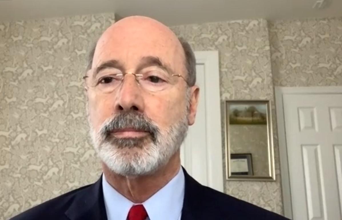Gov. Tom Wolf speaks during a virtual media briefing on Thursday, Dec. 10, 2020.