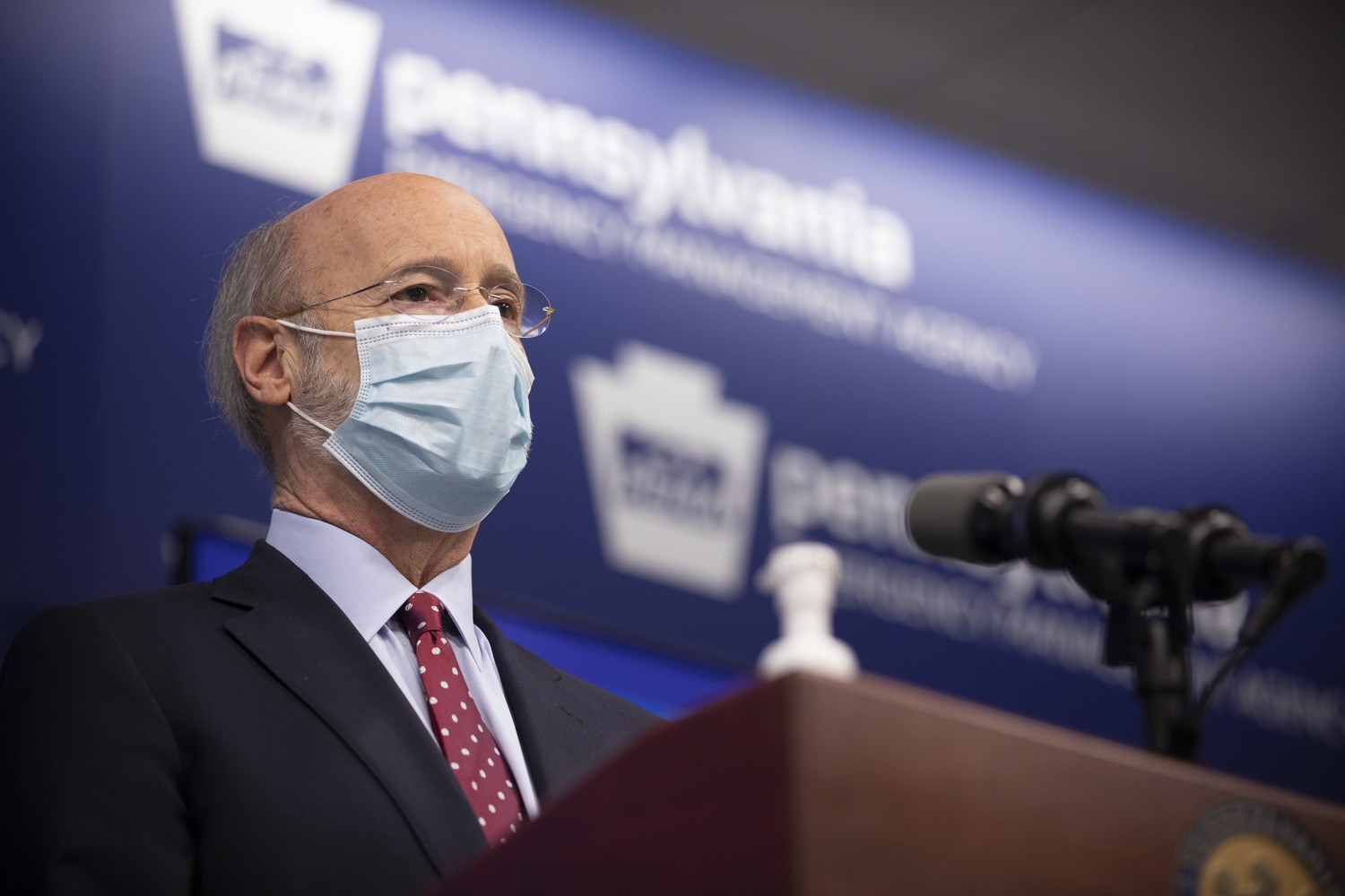 FILE Gov. Tom Wolf answers questions from the press on Monday, Dec. 7, 2020. (Source: PA.gov)
