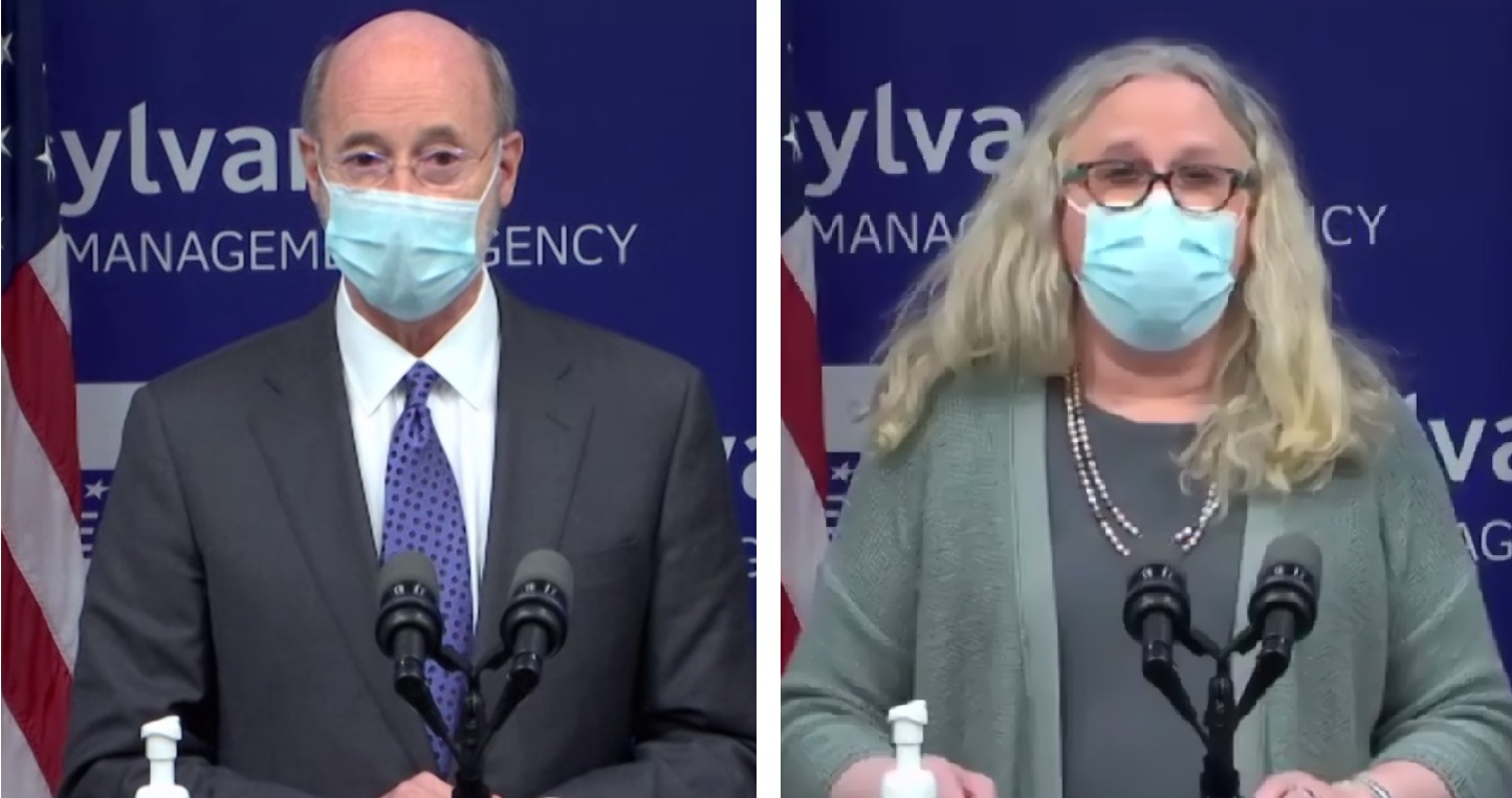 Gov. Tom Wolf and Health Secretary Dr. Rachel Levine discuss Pennsylvania's Covid-19 vaccination plan during an online media briefing on Friday, Jan. 8, 2021.