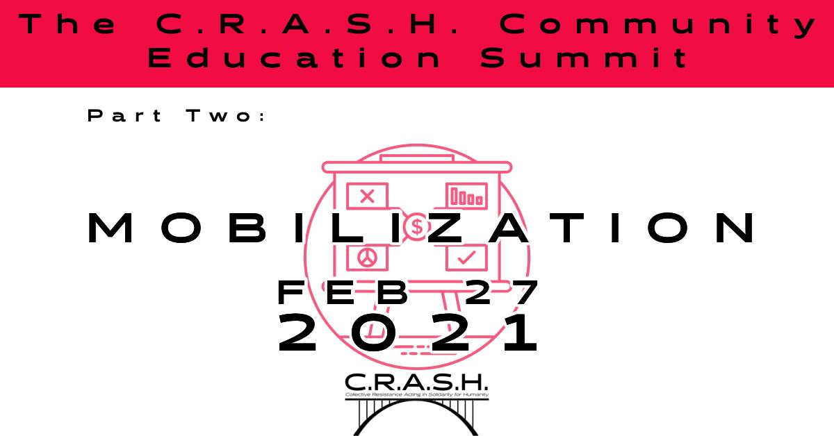 C.R.A.S.H. to host second part of 'We Can't Wait Summit'