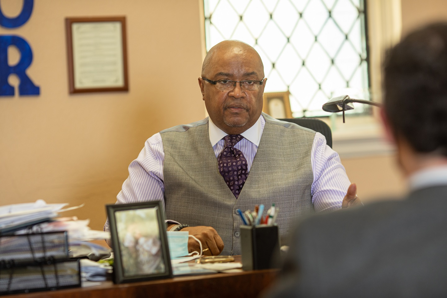 The Rev. Roland Forbes speaks during an interview at his office at Ebenezer Baptist Church in Lancaster on Friday, Feb. 5, 2021. (Photo: PhotOle Photography)