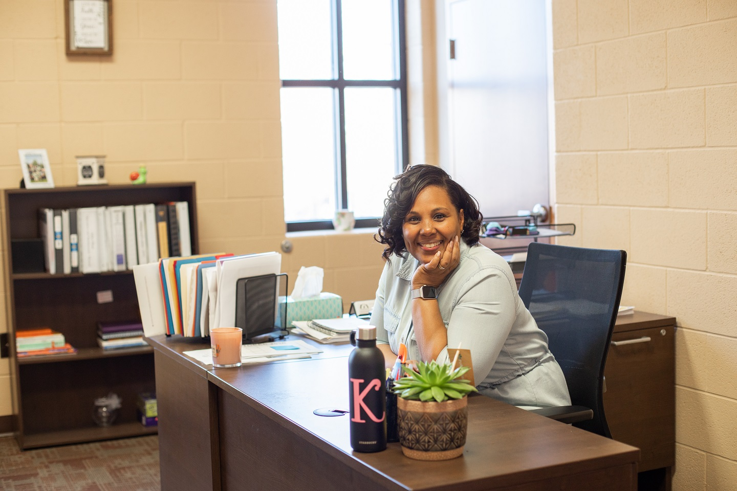 Kyonna Bowman, executive director of The Mix at Arbor Place, in her office. (Photo: PhotOle Photography)