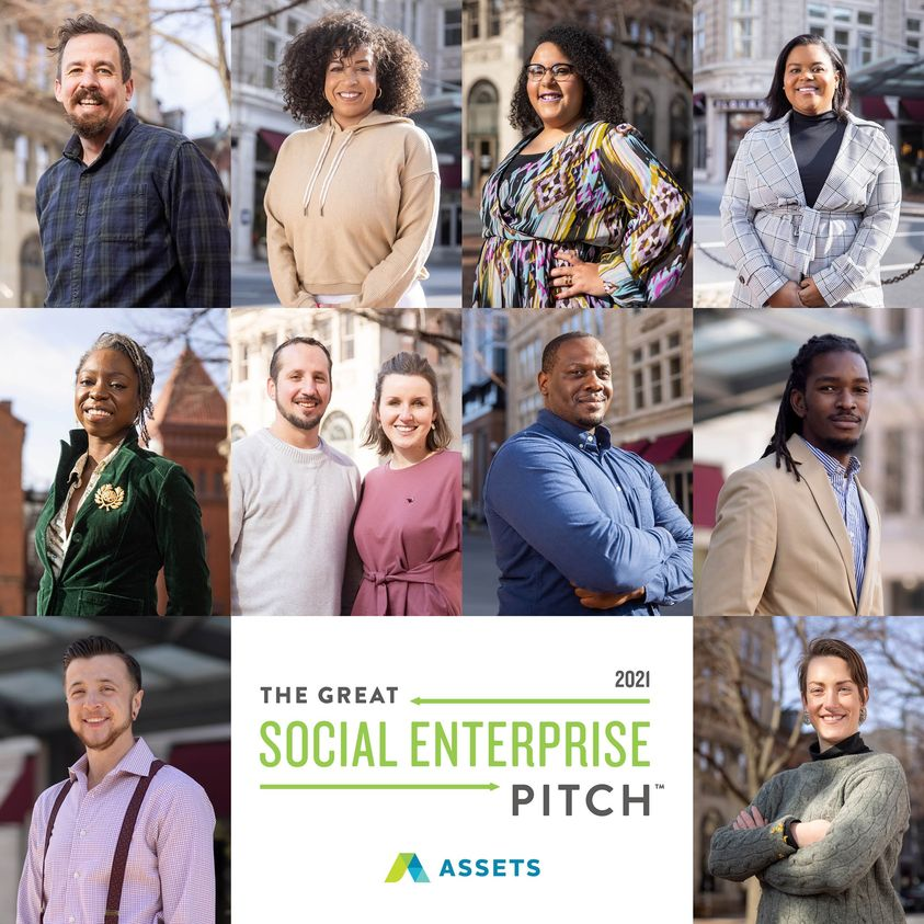 The 10 finalists for ASSETS' 2021 The Great Social Enterprise Pitch. (Source: ASSETS)
