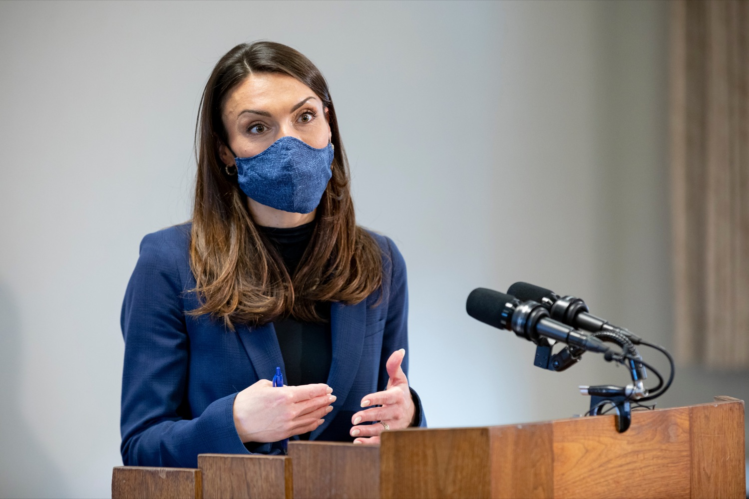 Acting Secretary of Health Alison Beam speaks during a press conference at Masonic Village in Elizabethtown on Monday, March 29, 2021. (Source: Pa.gov)