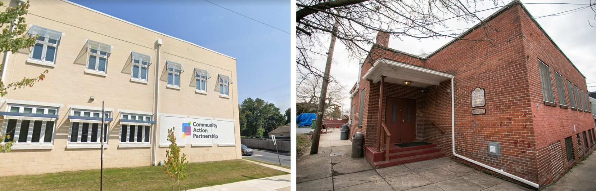Left: Community Action Partnership of Lancaster County.  (Source: Google Street View) Right: Crispus Attucks Community Center. (Source: PhotOle Photography)