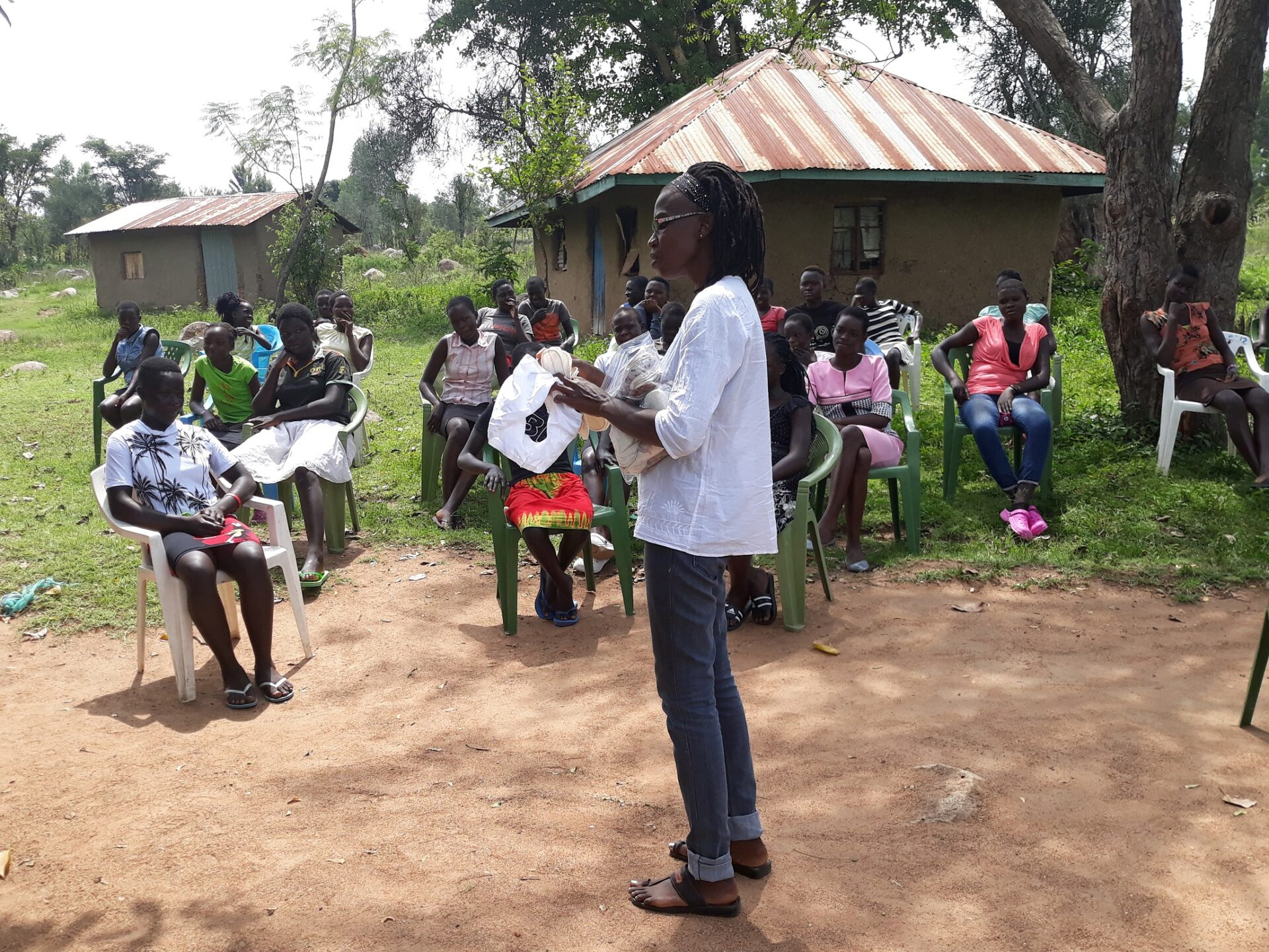 Dorothy Dulo teaches a hygiene class at a village in Kenya. (Photo: Provided)