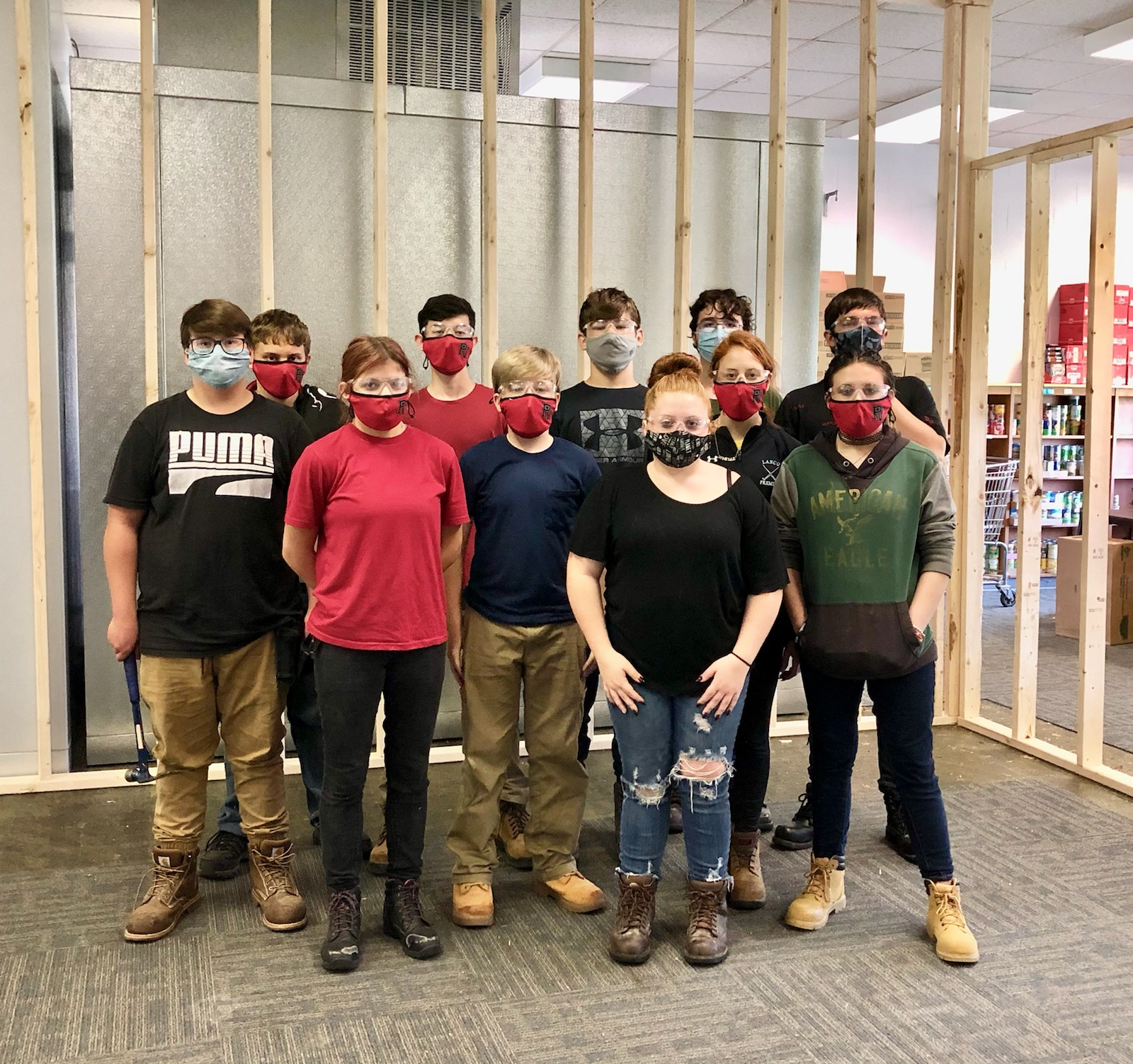 Membrs of Pequea Valley School District's Career Oriented Readiness Education (CORE) program helped remodel The Factory Market. (Photo: Provided)
