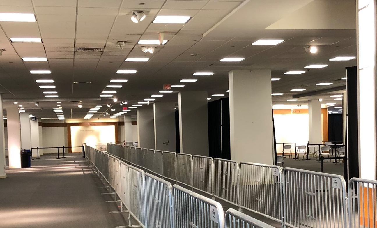 A portion of the community vaccination center at Park City Center. (Source: Commissioner Josh Parsons)