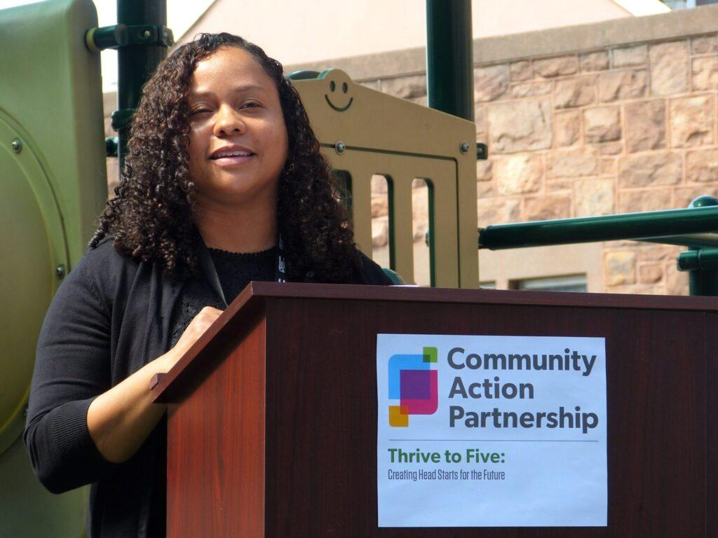 Angela Aviles, a lead teacher in Community Action Partnership (CAP) of Lancaster County's Thrive to 5 program. (Photo: Tim Stuhldreher)