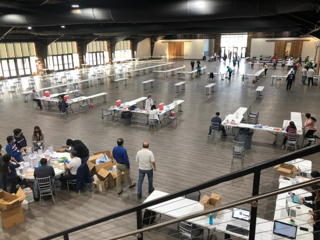 The South Asian Association of Lancaster / NCS Pharmacy Covid-19 vaccination clinic at the Wyndham Expo Center on Lincoln Highway East. (Source: Provided)