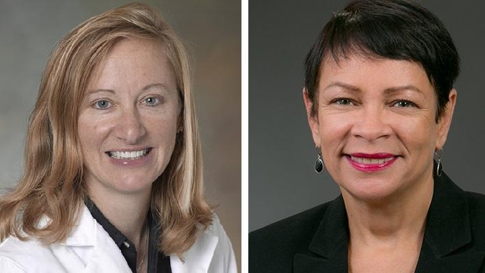 Left: Dr. Pia Fenimore, chief of pediatrics, Penn Medicine Lancaster General Health. Right: Damaris Rau, superintendent, School District of Lancaster.