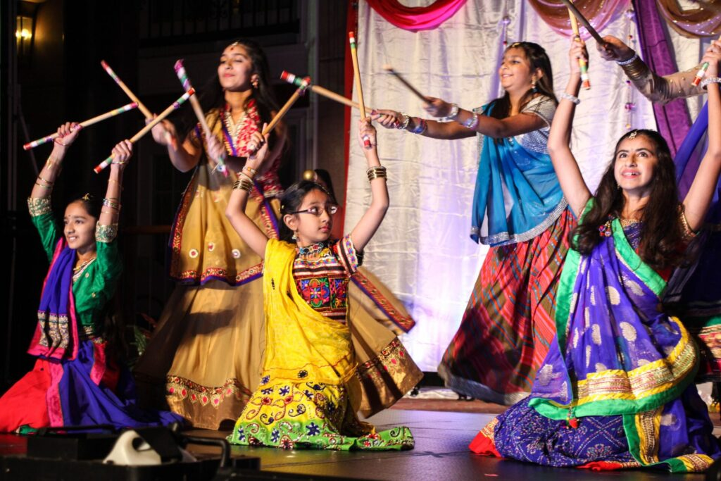 A traditional Hindu stick dance is performed at the 2017 SAAL celebration of Diwali (Festival of Lights) (Source: Provided)