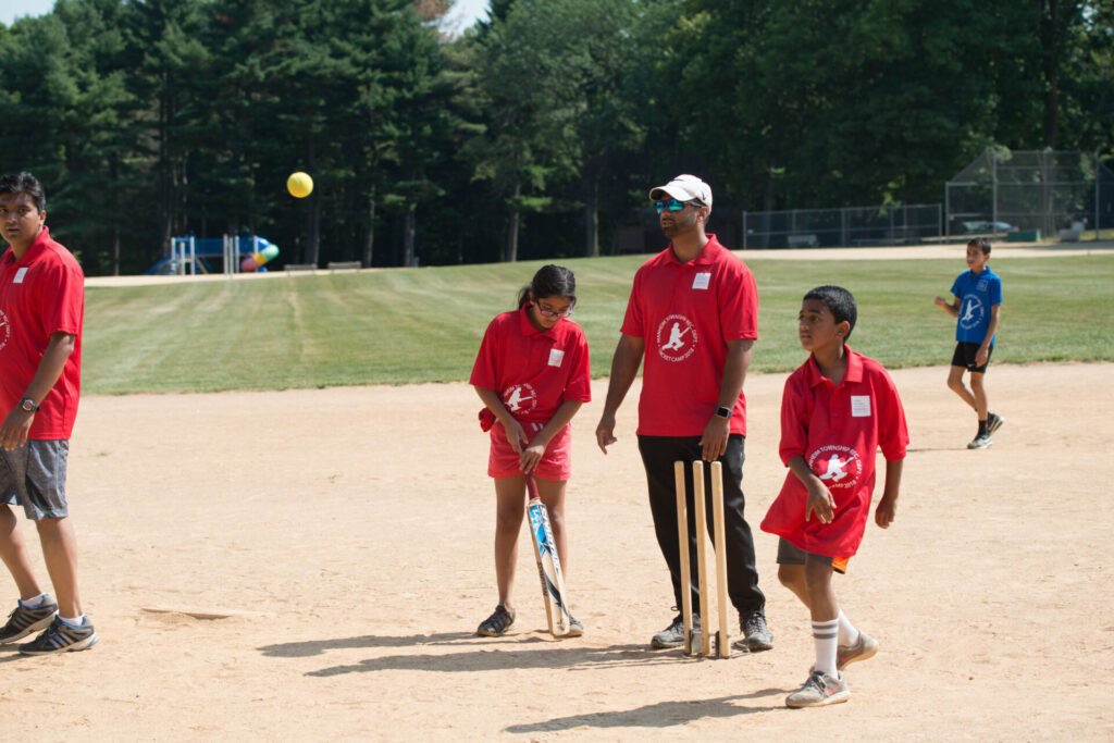 Children participate in a SAAL cricket camp. (Source: Provided)