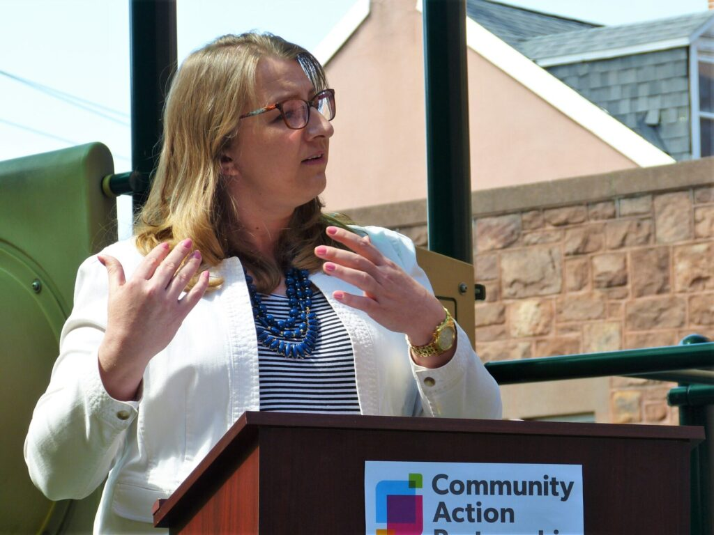 Stacy Lewis, Director of the Thrive to 5 program at Community Action Partnership (CAP) of Lancaster County. (Photo: Tim Stuhldreher)